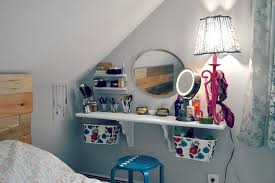 makeup vanity ideas for bedroom wall mounted bedroom vanity diy makeup vanity brilliant setup for