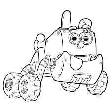 robot dog in rusty rivets coloring page robotic puppy get