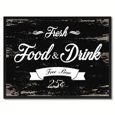 fresh food u0026 drink vintage sign home decor wall art gift ideas