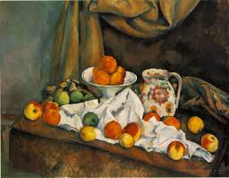 Fruit Bowl by Fruit Bowl Pitcher And Fruit Paul Cezanne Paintings