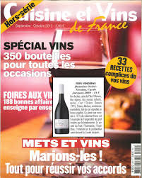 cuisine et vin cuisine et vin de hors série domaine nicolas