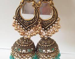 bridal jhumka earrings bridal jhumkas etsy