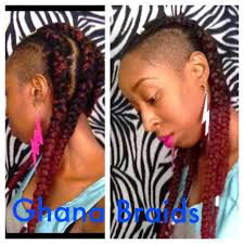 braids with bald hair at the bavk ghana cornrows on 4c natural hair w shaved sides feed in method