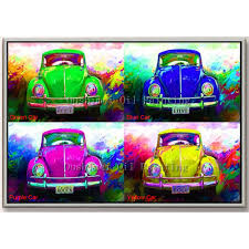 handmade oil painting color car paintings modern abstract picture