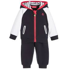 ferrari clothing baby boys blue tracksuit childrensalon