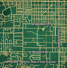 Colorado State Campus Map colorado state university campus map art city prints