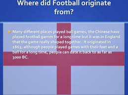 football criteria a assessment by 8a where did football