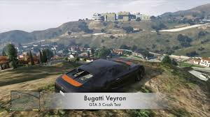 bugatti crash gta 5 v xbox 360 bugatti veyron crash testing gameplay youtube