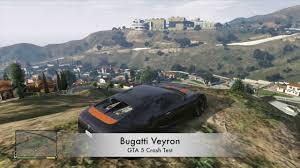 bugatti crash gta 5 v xbox 360 bugatti veyron crash testing gameplay youtube