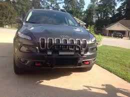 2015 jeep cherokee light bar front led light bar and spot led lights installed 2014 jeep