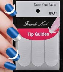 nail guide tip french manicure stencil