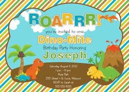 Kids Birthday Party Invitation Card Dinosaur Birthday Invitations Template For Kids Birthday Invitations