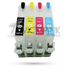 reset epson xp 211 botones cartucho recargable para epson xp 211 y 201 4 tintas dye