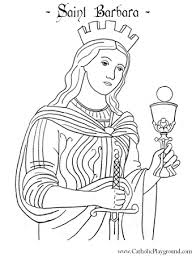 Saint Barbara Coloring Page December 4th Catholic Playground Saints Colouring Pages