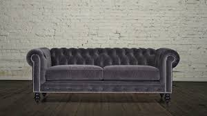 Grey Fabric Chesterfield Sofa by Chesterfield Sofa 85 Fabric Cannes Velvet Dark Grey 1 Cococo Home
