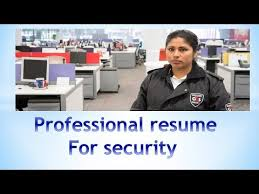 how to write professional resume for security job youtube