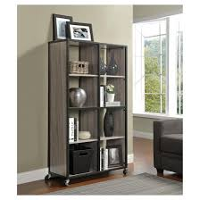 Bookcase Room Dividers by Mason Ridge Mobile Bookcase Room Divider With Metal Frame Sonoma
