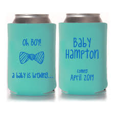 shower koozie baby shower koozie favors baby shower favors coed baby shower