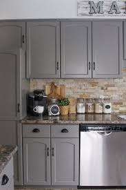 beautiful grey kitchen cabinets used marble countertop with