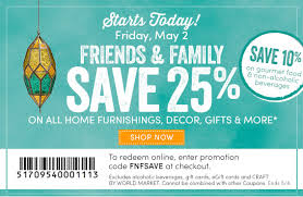 cost plus world market friends family sale starts today save