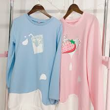 strawberry sweater japanese strawberry plus velvet sweater diamondhoney
