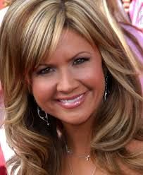 nancy o u0027dell with waves curls lowlights and highlights in her