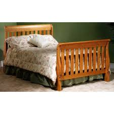 Sleigh Bed Cribs Sleigh Crib Bed 26 Csc Amish Oak Nursery Furniture Made In Usa