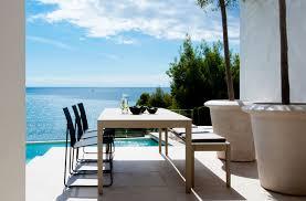 Contemporary Dining Table Contemporary Dining Table Aluminum Rectangular Garden