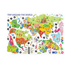 Self Adhesive World Map Decorating Online Buy Wholesale World Map Wall Sticker From China World Map