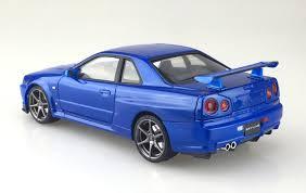 blue nissan skyline r34 skylane gt r v spec 2 bayside blue nissan u2022 not toys com