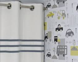 White Linen Blackout Curtains Baby Boy Curtains Etsy