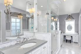 honed caesarstone bathroom traditional with gray countertop
