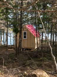 micro cottage cozy couple nordic hut micro cabin camping oceanside nova