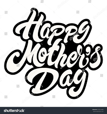 happy mothers day lettering card design stock vector 410417638