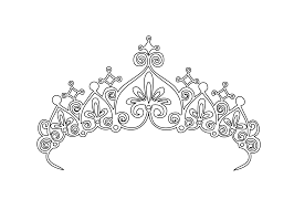 coloring printable how to make princess tiaras with detail