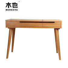 Small Desk With Drawer Nordic Solid Wood Dresser Fashion Bedroom Modern Minimalist