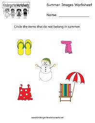 kindergarten summer images worksheet printable worksheets