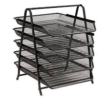 Mesh Desk Organizer Mind Reader 5 Tier Steel Mesh Desk Organizer 8562206 Hsn
