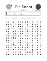die farben german colors word search puzzle worksheet by miss mindy