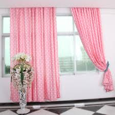 Pink Polka Dot Curtains Pink Color Polka Dot Curtains Suitable For Room
