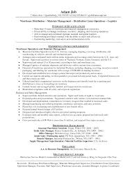 Warehouse Worker Resume Template Restaurant Manager Resume Sample Logistics Peppapp