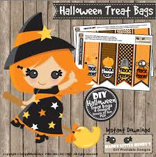 halloween treat bag craft halloween treat bags instant download party decoration trick or
