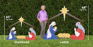 outdoor nativity sets enthralling outdoor nativity holy family size lighted nativity