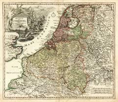 Holland Map Vintage Map Holland U0026 Belgium 1724 Original Art Antique Maps