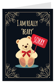 buy personalized sorry greeting cards online in india with custom