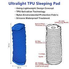 crehouse outdoor lightweight inflatable sleeping pad ultralight