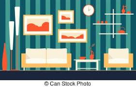 clip art of green classic livingroom classic livingroom with