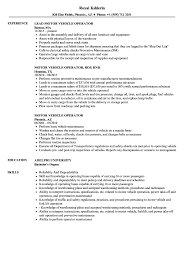 resume tips and exles motor vehicle operator resume sles velvet
