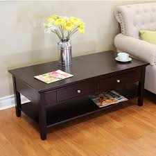 furniture modern and contemporary design of espresso coffee table