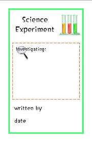 science fair report template science experiment booklet notebooking